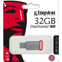 Kingston DataTraveler 50 DT50 Chiavetta USB 3.0, 32 GB