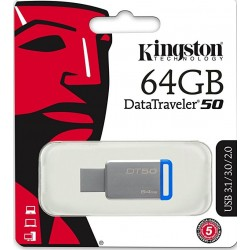 Kingston DataTraveler 50 DT50 Chiavetta USB 3.0, 64 GB
